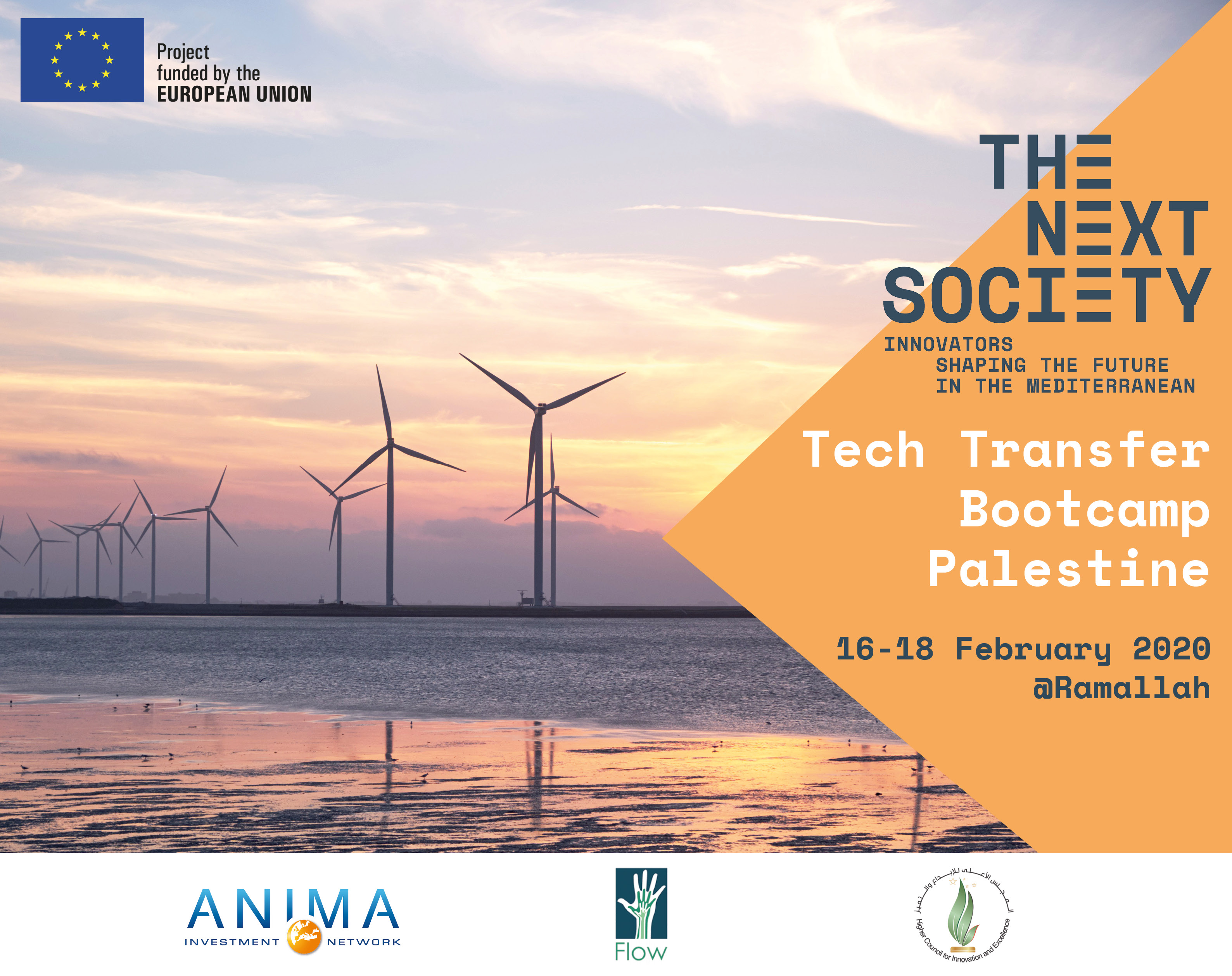 Tech Transfer palestine banner event visual the next society