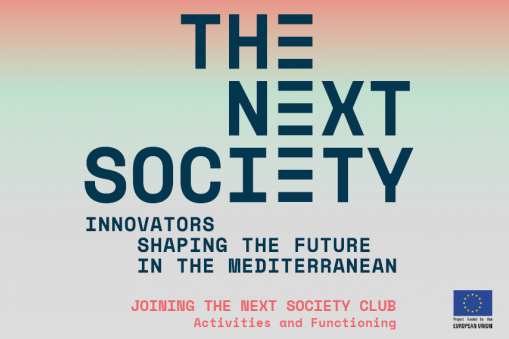 THE NEXT SOCIETY Club Brochure multicolor cover